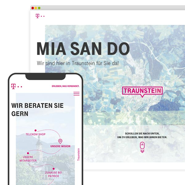Telekom Traunstein Website